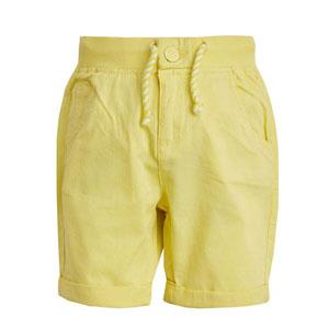 Erkek Çocuk Bağlamalı Şort Limon Sarısı (3-12 yaş)
