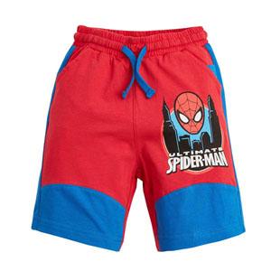 Ultimate Spider-Man Erkek Çocuk Beli Lastikli Şort Kırmızı (3-7 yaş)