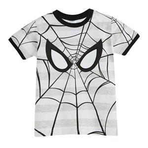 Ultimate Spider-Man Erkek Çocuk Kısa Kol Tişört Gri Melanj (3-7 yaş)