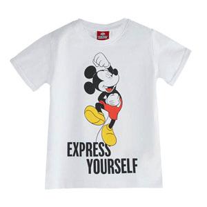 Disney Mickey Mouse Erkek Çocuk Kısa Kol Tişört Beyaz (2-7 yaş)