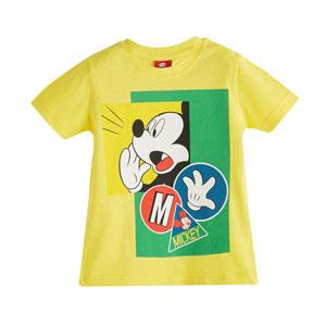 Disney Mickey Mouse Erkek Çocuk Kısa Kol Tişört Sarı (2-7 yaş)