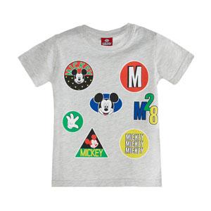 Disney Mickey Mouse Erkek Çocuk Kısa Kol Tişört Açık Gri Melanj (2-7 y