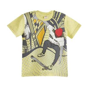 Erkek Çocuk Kısa Kol Tişört Limon Sarısı (3-12 yaş)