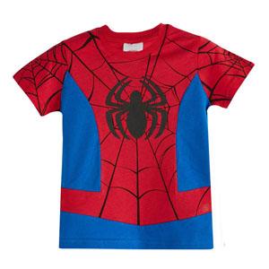 Ultimate Spider-Man Erkek Çocuk Kısa Kol Tişört Kırmızı (3-7 yaş)
