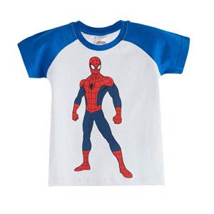 Ultimate Spider-Man Erkek Çocuk Kısa Kol Tişört Beyaz (3-7 yaş)