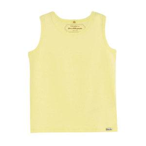 Erkek Bebek Kolsuz T-Shirt Limon Sarısı (0-2 yaş)