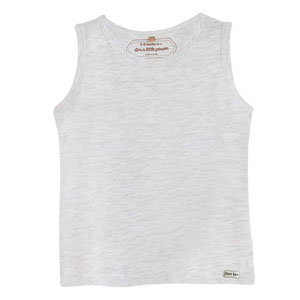 Erkek Bebek Kolsuz T-Shirt Açık Gri Melanj (0-2 yaş)