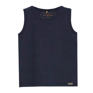 Erkek Bebek Kolsuz T-Shirt Lacivert (0-2 yaş)