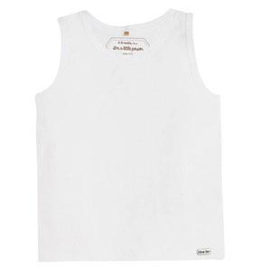 Erkek Bebek Kolsuz T-Shirt Beyaz (0-2 yaş)
