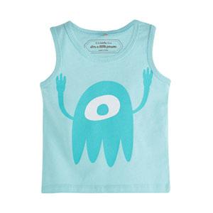Erkek Bebek Kolsuz T-Shirt Cam Göbeği (0-2 yaş)
