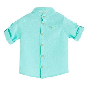 Erkek Bebek Uzun Kol Gömlek Aqua (0-2 yaş)