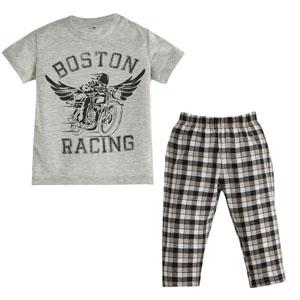 Erkek Bebek Pijama Takımı Gri Melanj (0-3 yaş)