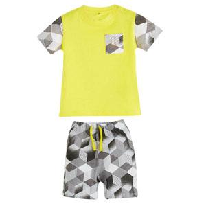 Erkek Bebek Pijama Takımı Sarı (0-3 yaş)