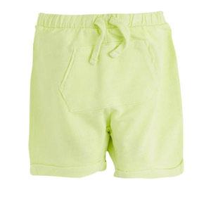 Erkek Bebek Şort Neon Sarı (0-2 yaş)