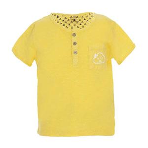 Erkek Bebek Kısa Kol Tişört Antik Sarı (0-2 yaş)