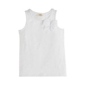 Kız Çocuk Kolsuz Tişört Beyaz (3-12 yaş)