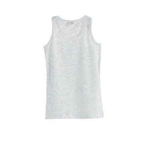 Kız Çocuk Kolsuz Tişört Açık Gri Melanj (3-12 yaş)