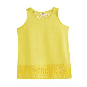 Kız Çocuk Kolsuz Tişört Koyu Sarı (3-12 yaş)
