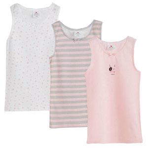Kız Çocuk Üçlü Atlet Set Pembe (2-12 yaş)