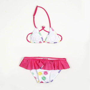 Kız Çocuk Bikini Fuşya (1-12 yaş)