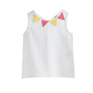 Kız Çocuk Kolsuz Bluz Beyaz (1-7 yaş)