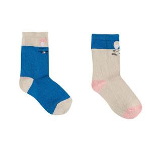 Kız Çocuk Üçlü Çorap Pembe (23-34 numara)