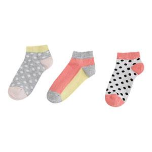 Kız Çocuk Üçlü Çorap Koyu Pembe (23-34 numara)
