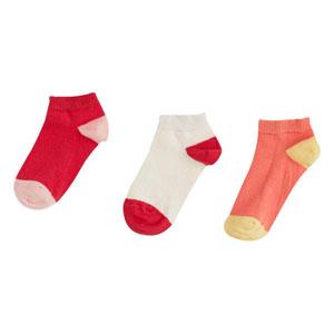 Kız Çocuk Üçlü Çorap Fuşya (23-34 numara)