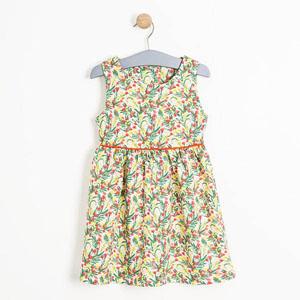 Kız Çocuk Kolsuz Elbise Baskılı (3-12 yaş)