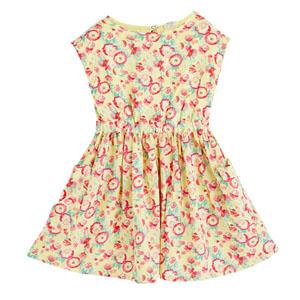 Kız Çocuk Kolsuz Elbise Ekru (3-10 yaş)