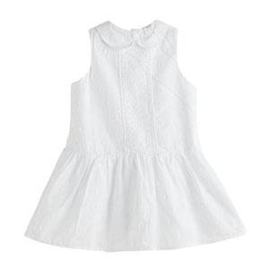 Kız Çocuk Kolsuz Elbise Beyaz (1-7 yaş)