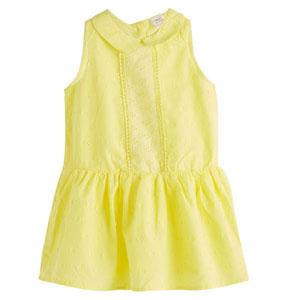 Kız Çocuk Kolsuz Elbise Limon Sarısı (1-7 yaş)