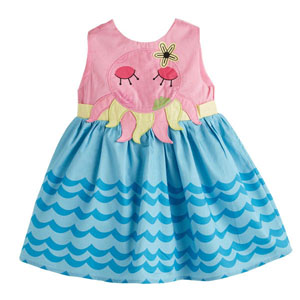 Kız Çocuk Kolsuz Elbise Pembe (1-5 yaş)