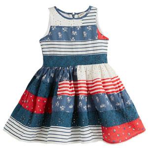 Kız Çocuk Kolsuz Elbise Mavi (3-12 yaş)