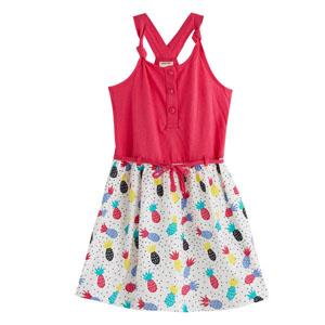 Kız Çocuk Kolsuz Elbise Fuşya (3-12 yaş)