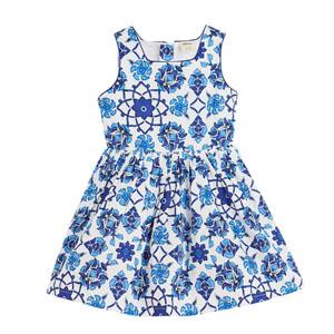 Kız Çocuk Kolsuz Elbise Lacivert (3-12 yaş)