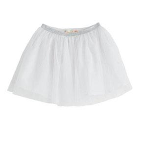 Kız Çocuk Tütülü Etek Beyaz (3-12 yaş)