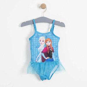 Disney Frozen Kız Çocuk Askılı Fırfırlı Mayo Yeşil (2-7 yaş)