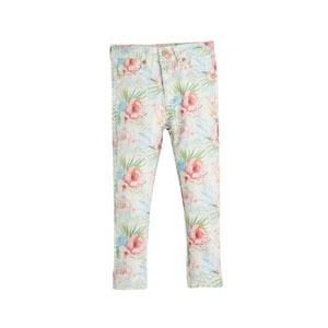 Kız Çocuk Çiçekli Pantolon Baskılı (3-10 yaş)