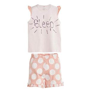 Kız Çocuk Pijama Takımı Ekru (4-12 yaş)