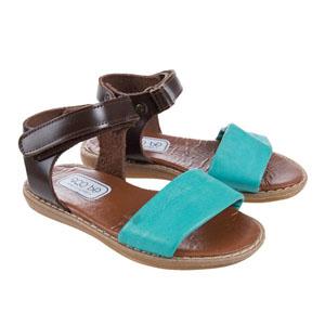 Kız Çocuk Deri Sandalet Mavi (21-30 numara)