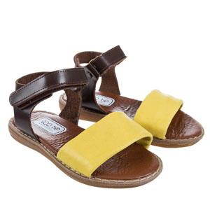 Kız Çocuk Deri Sandalet Sarı (21-30 numara)
