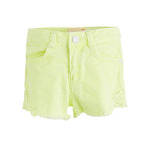 Kız Çocuk Şort Neon Sarı (3-12 yaş)
