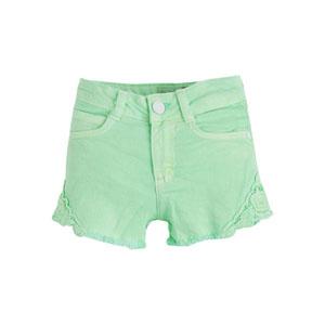 Kız Çocuk Şort Neon Yeşil (3-12 yaş)