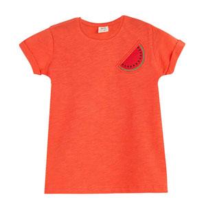 Kız Çocuk Kısa Kol Tişört Elma Şekeri (3-12 yaş)