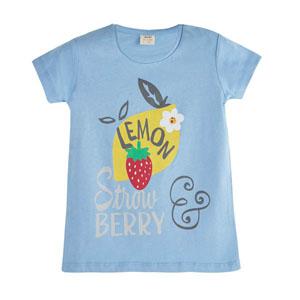 Pop Girls Limon Çilek Kısa Kol Tişört Violet (3-12 yaş)
