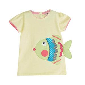 Little Mermaids Kısa Kol Tişört Sarı (1-5 yaş)