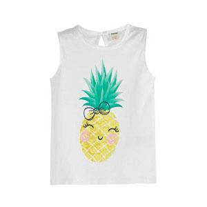 Pineapple Party Kısa Kol Tişört Beyaz (3-12 yaş)