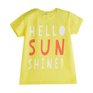 Pop Girls Merhaba Güneş Kısa Kol Tişört Koyu Sarı (3-12 yaş)