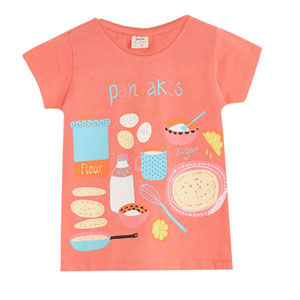 Pop Girls Pancake Kısa Kol Tişört Porselen Rose (3-12 yaş)
